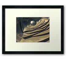 Flakes of Gold Framed Print