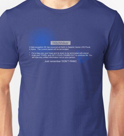 Hitchhiker's Error Unisex T-Shirt