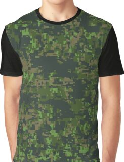 Canadian Digital Camouflage Pattern Graphic T-Shirt