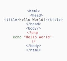 php Greeting for Nerds and Geeks Kids Clothes