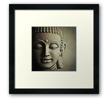 Buddha Head Framed Print