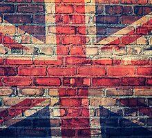 Union jack brick wall by SJAPhoto