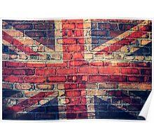 Union jack brick wall Poster