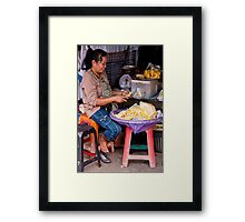 Squash Peeler Framed Print
