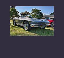 Silver 1963 Chevrolet Corvette convertible. Unisex T-Shirt