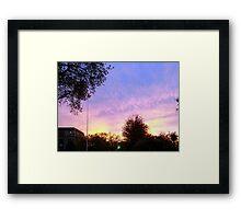 Early Sunset Framed Print