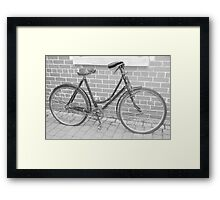 On your bike! Framed Print