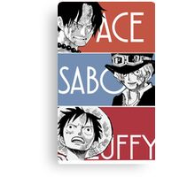 ASL - Ace Sabo Luffy - Brothers  Canvas Print