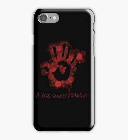 a kiss sweet mother iPhone Case/Skin