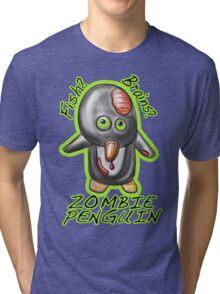 Zombie Penguin Tri-blend T-Shirt