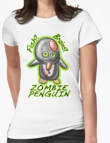 Zombie Penguin Womens Fitted T-Shirt