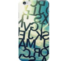Letters in the Sky iPhone Case/Skin