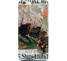 The tidal wave July 4 1918 95 ships launched United States Shipping Board Emergency Fleet Corporation iPhone Case/Skin