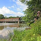 Harpersfield Covered Bridge by Jack Ryan