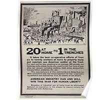 20 at home to 1 in the trenches 002 Poster