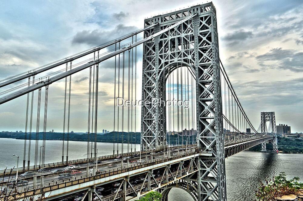 """ George Washington Bridge - Fort Lee, New Jersey "" by DeucePhotog"