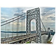 """ George Washington Bridge - Fort Lee, New Jersey "" Poster"