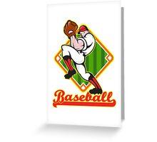 Baseball Pitcher Player Pitching Diamond Greeting Card