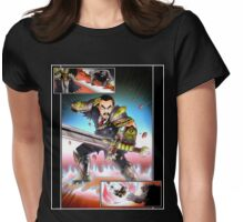Bringing a sword to a bear fight Womens Fitted T-Shirt
