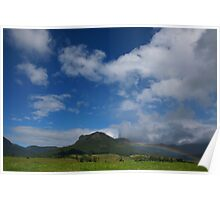 Rainbow, Mount Widgee. Lost World. Scenic Rim. Queensland. Poster