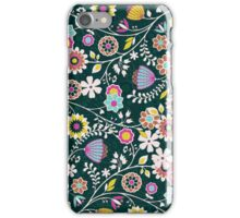 Colorful Cute Retro Floral Pattern Design iPhone Case/Skin