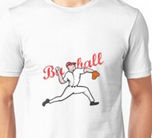 Baseball Pitcher Player Cartoon Unisex T-Shirt