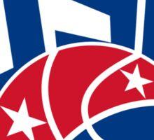 United States USA American Basketball Ball Sticker