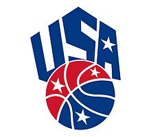 United States USA American Basketball Ball by patrimonio
