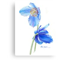 Blue Poppy Sails in the Wind Canvas Print