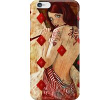 Nine of Diamonds iPhone Case/Skin
