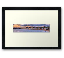 Brighton Beach Bathing Boxes Framed Print