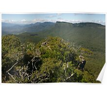 Mountainous Scenic Rim. Southeast Queensland. Poster