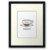 Coffee Addict, Cappuccino, no background Framed Print