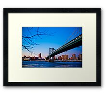 Thats how we across - Manhattan Bridge Framed Print