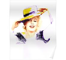 Marilyn In A Hat Poster