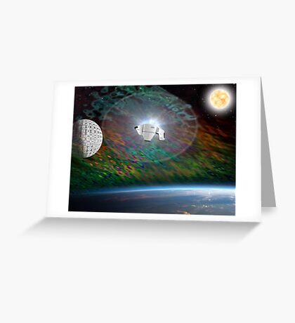 Out of Hyperspace Greeting Card