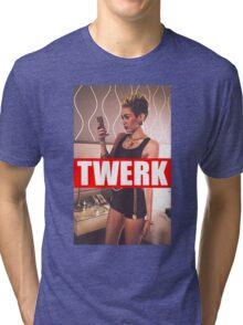 Miley Cyrus Twerk Team New Tee Tri-blend T-Shirt