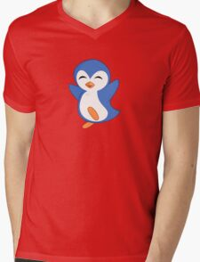 Happy Feet Dancing Penguin Mens V-Neck T-Shirt