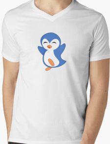Happy Feet Dancing Penguin Mens V-Neck T-Shirt