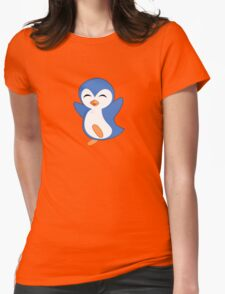 Happy Feet Dancing Penguin Womens Fitted T-Shirt