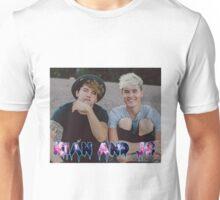 Kian and Jc Sitting Galaxy Name Unisex T-Shirt