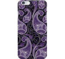 Pastel Tone Vintage Paisley Design, Touch Of Purple iPhone Case/Skin