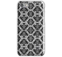 Black And White Tones Seamless Abstract Ornate Baroque Pattern iPhone Case/Skin