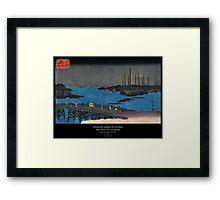 Eitaibashi tsukuda oki isaribune Series II Framed Print