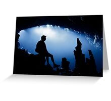 White Cliff Cave, Thailand Greeting Card