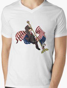 Flag Power Mens V-Neck T-Shirt