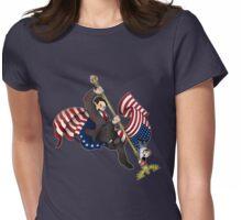 Flag Power- Darker T-Shirt Shirt Version Womens Fitted T-Shirt