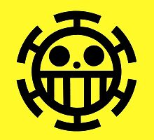 Heart pirates symbol - Trafalgar Law  by NomadSenpai
