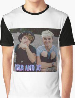 Kian and Jc sitting small blue purple name Graphic T-Shirt