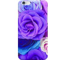 Colorful Roses Collage-Cool Tones iPhone Case/Skin